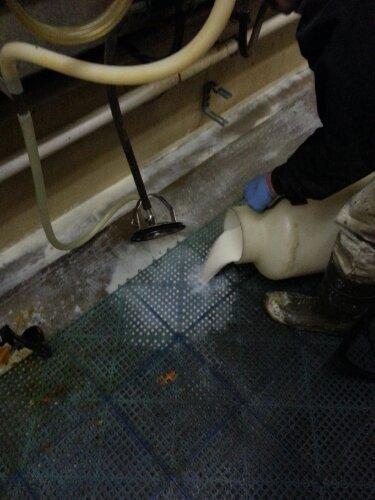 waste milk being dumped