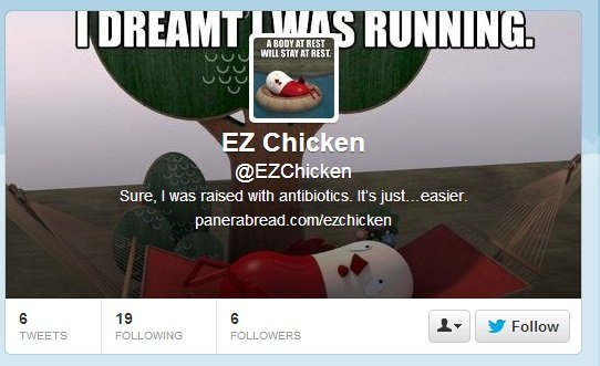 Your new twitter account... wow... just wow.