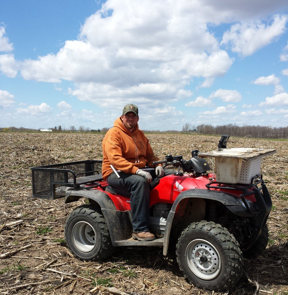 This is Nick. He works with Tom, our crop consultant, to collect sample soils. He is also single.