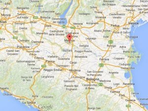 Map of Mantua Italy.