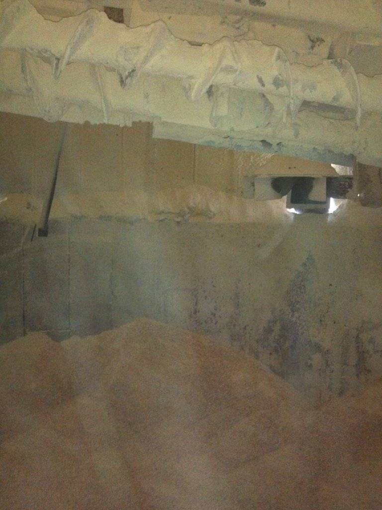 This is the silo full of corn. This year we filled one silo full and another silo about half full.