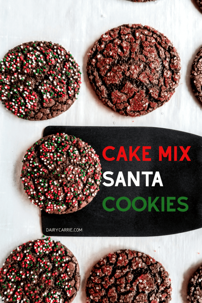 Easy Santa Cookie with Cake Mix