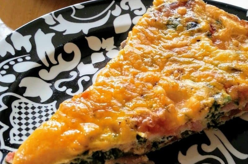 Apparently it's not egg strata- The perfect for brunch crustless egg quiche recipe.